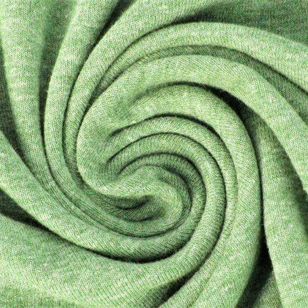 Baumwolljersey Melange - Jersey Stoff Uni meliert - Hellgrün meliert