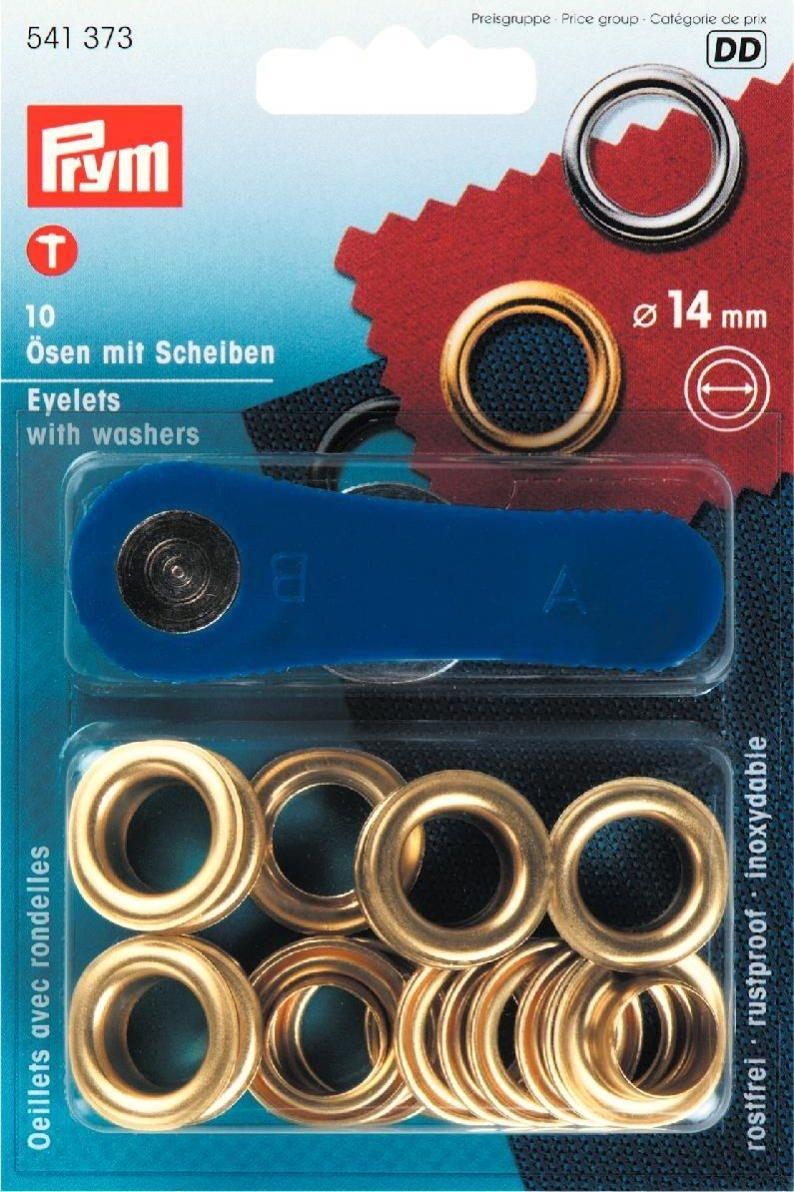 Ösen und Scheiben MS 14,0 mm goldfarbig