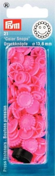 Prym - NF Druckknöpfe Color Snaps Blume 13,6 mm - Pink