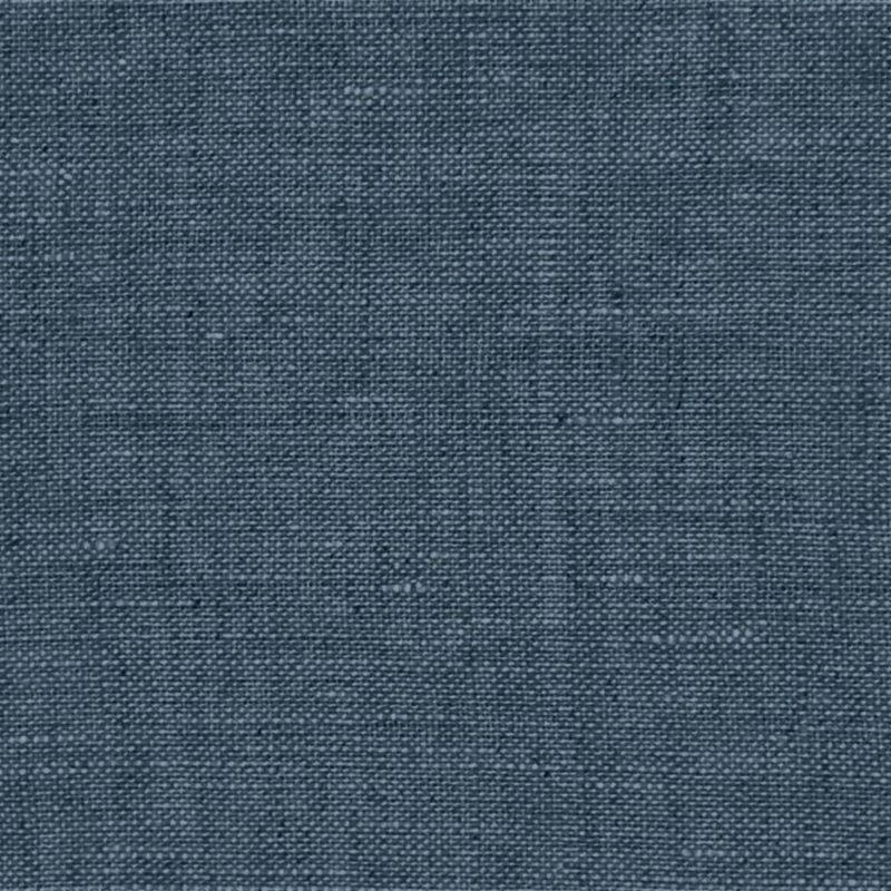 Leinen - Washed Linen - Dekostoff - Uni - dunkles Jeansblau