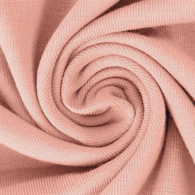 Baumwolljersey - Jersey Stoff Uni - New Fashion Color - Pastell - Lachs