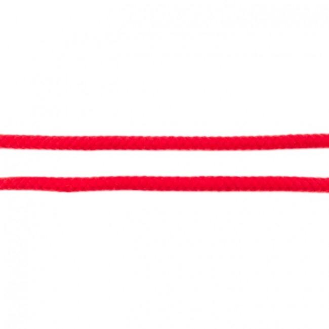 Doppelt gewebte Baumwollkordel - 8mm - Rot