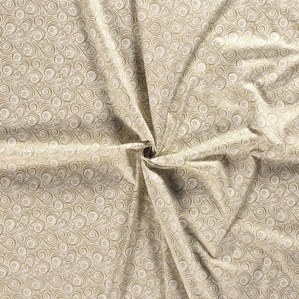 Baumwolle - Baumwoll Stoff - Weihnachten Gold  auf Grauweiß