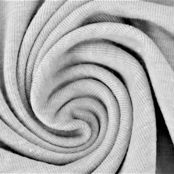 Baumwolljersey Melange - Jersey Stoff Uni meliert - Silber meliert