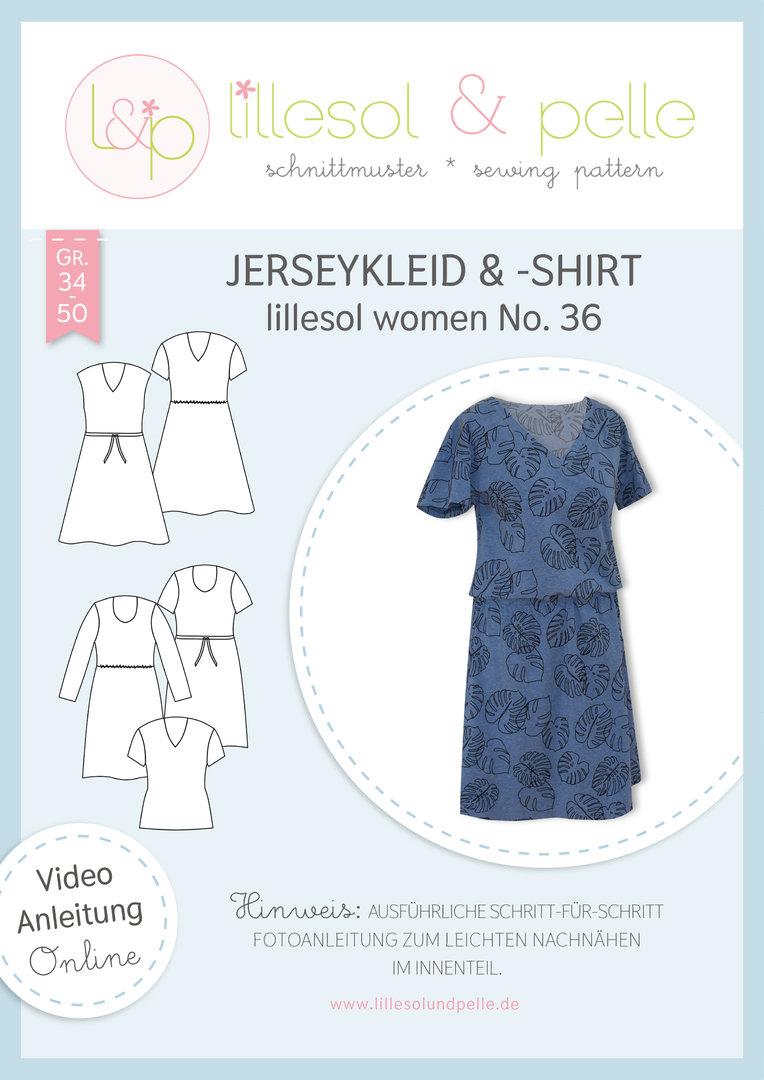 Papierschnittmuster lillesol women No.36 Jerseykleid & -Shirt