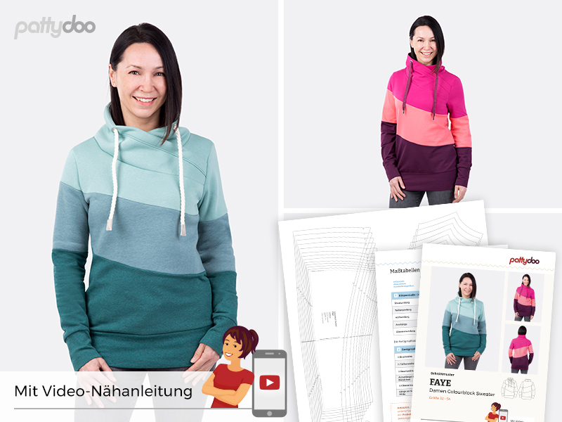 Pattydoo - Schnittmuster Faye - Colourblock Sweater