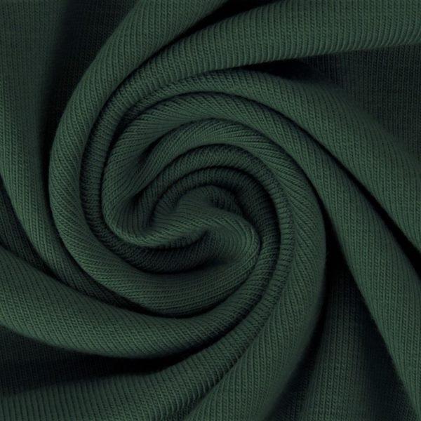 Sommersweat Stoff - French Terry - nicht angeraut - Waldgrün