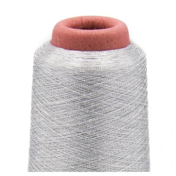 Overlockgarn - Nähgarn - Spule - Metallic - Silber