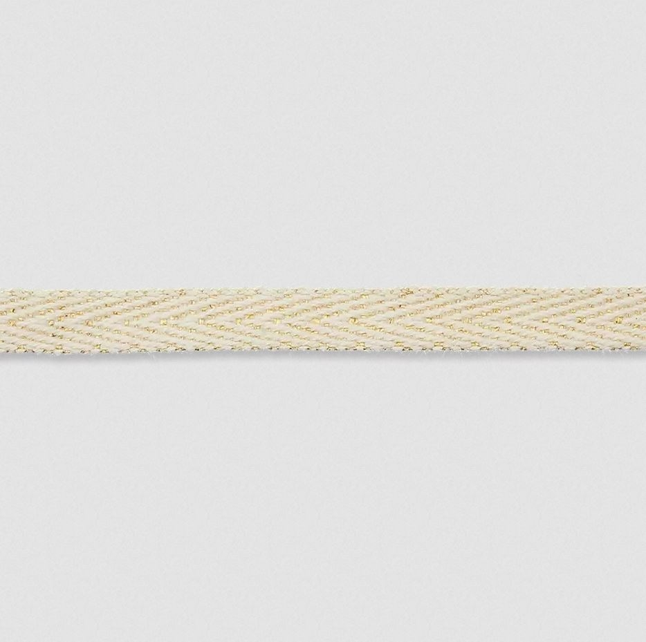 Köperband - 5mm - Gold