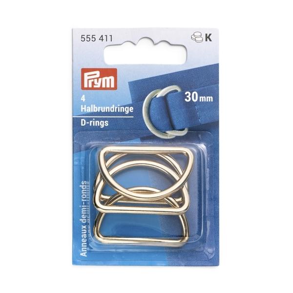 Prym - Halbrundringe, 30mm, new gold 555411