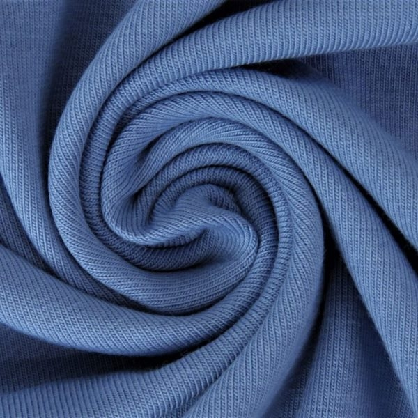 Sommersweat Stoff - French Terry - nicht angeraut - Jeansblau