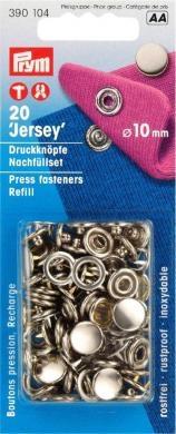 Prym - NF-Druckknopf Jersey MS 10 mm silber Nachfüllpackung