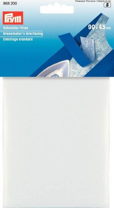 Prym Schneider-Vlies zum Aufbügeln 90 x 45 cm weiß - SB Packung
