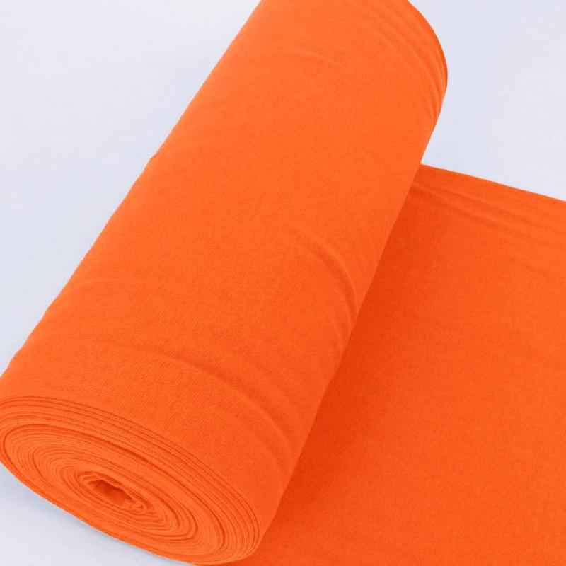Bündchen Stoff Feinripp Uni - Neon Orange