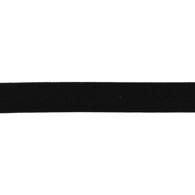 Elastisches Einfassband matt - Schwarz