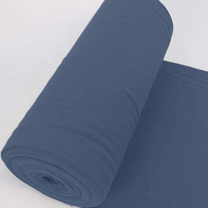 Bündchen Stoff Feinripp Uni - Mittelblau