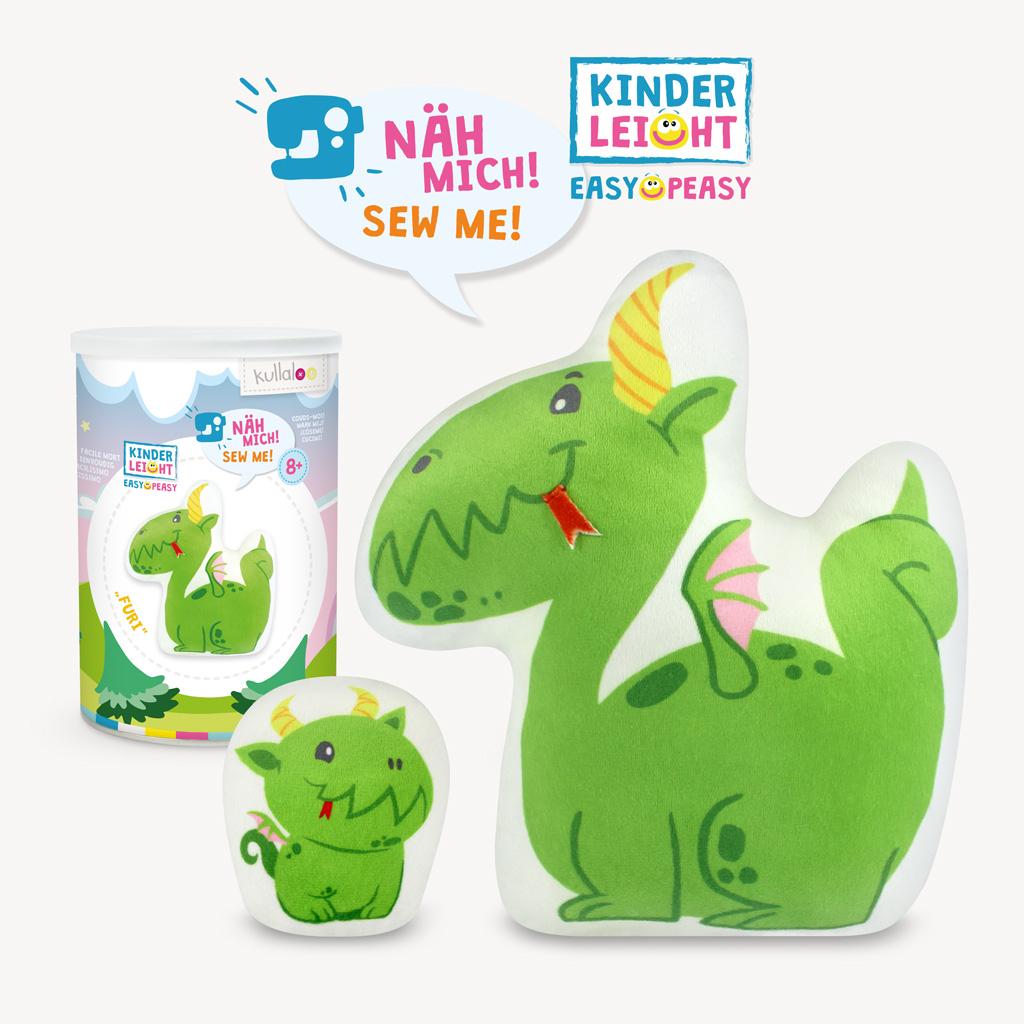 """Kullaloo - Nähset Kinder:  Drache Furi -  KINDERLEICHT Serie """"Magic World"""""""