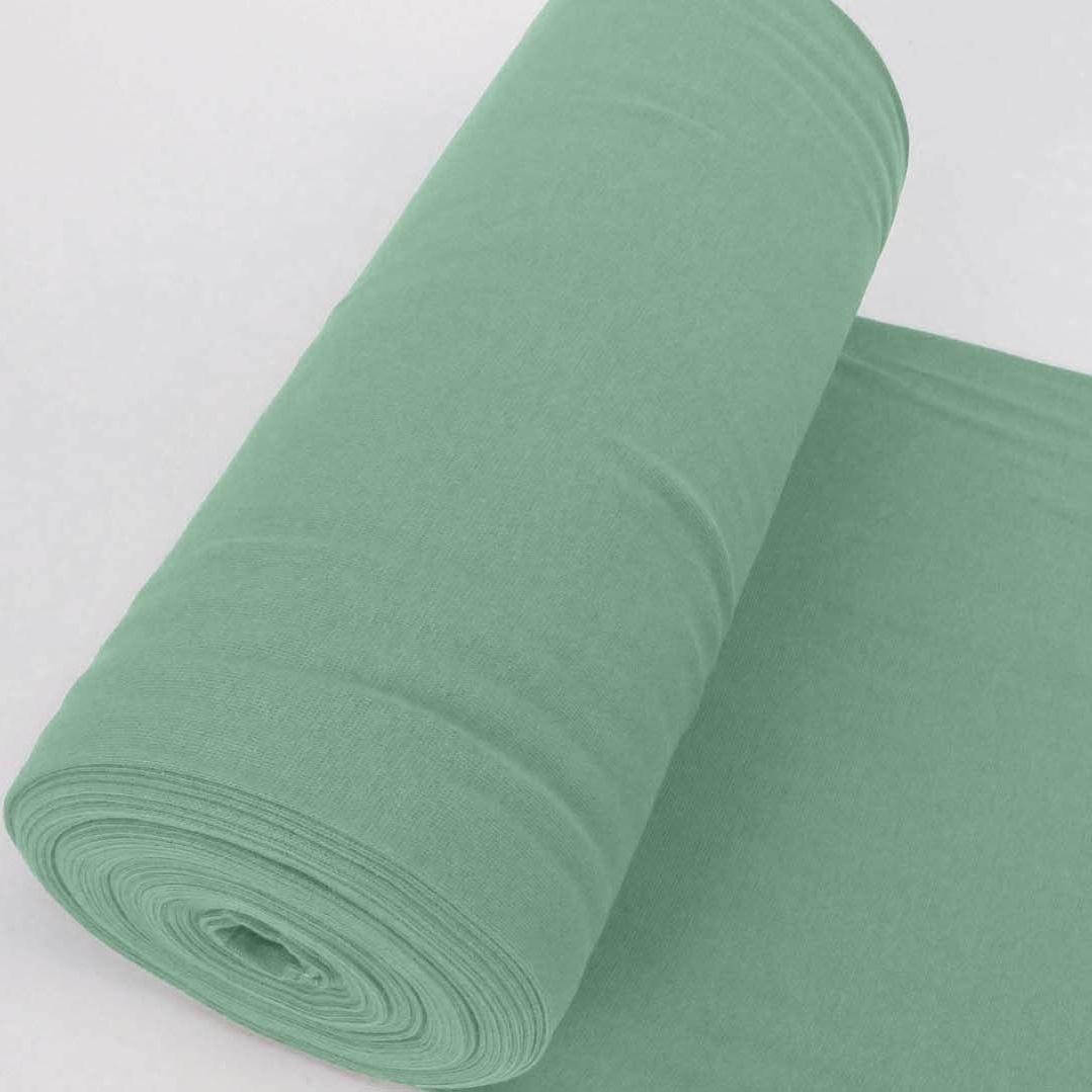 Bündchen Stoff Feinripp Uni - Altgrün