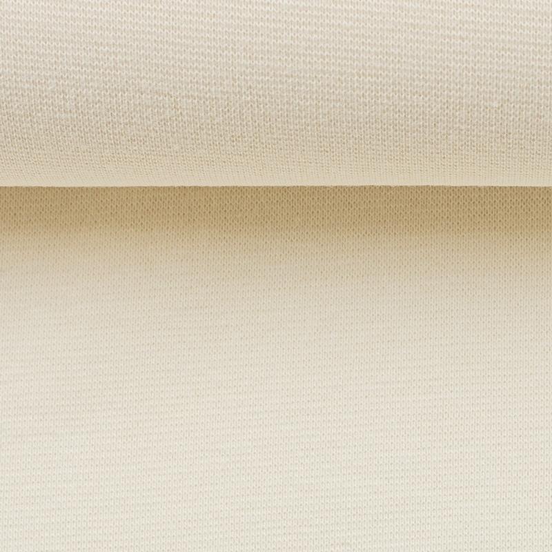 Heike, Schlauchware **Öko-Tex Standard 100**, Bündchen, uni, naturweiß