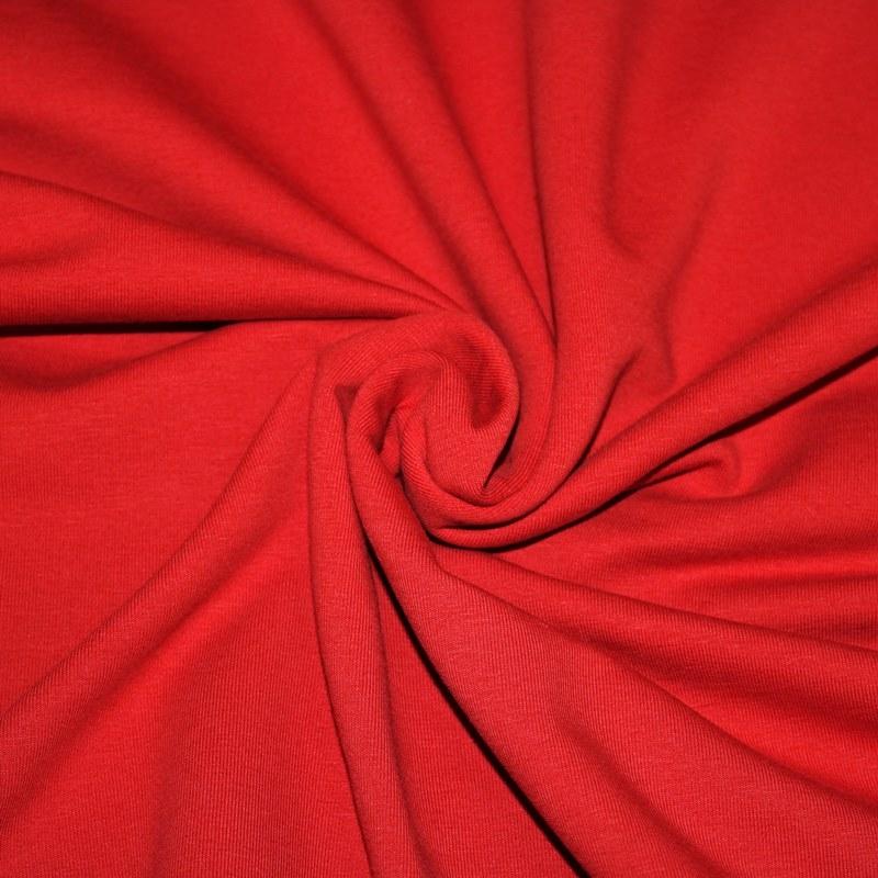 Ganzjahressweat Stoff - Sweat - angeraut - Rot