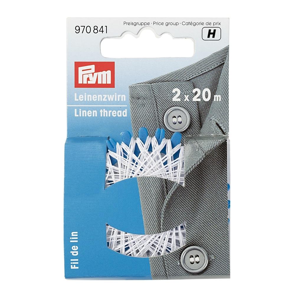 Prym Leinenzwirn - weiß - 2x 20m - 970841