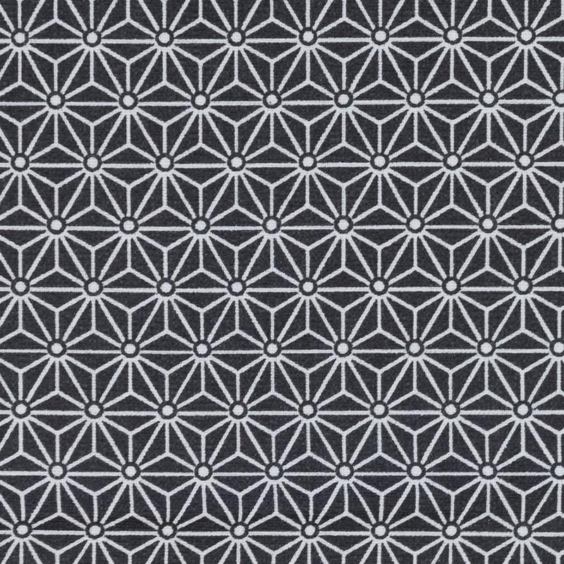 Beschichtete Baumwolle - Swafing - Luna - beschichtet - Abstrakt in Weiß auf Schwarz