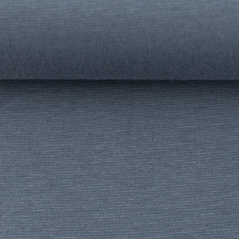 Heike, Schlauchware **Öko-Tex Standard 100**, Bündchen, uni, Rauchblau