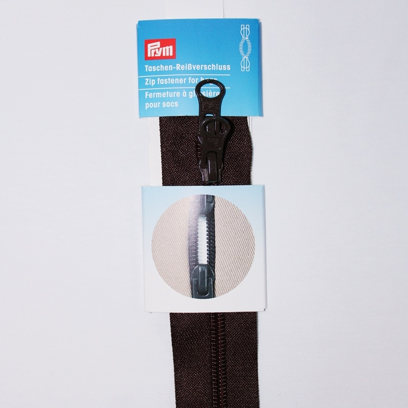 Prym - Reißverschluss S13, für Taschen, Zweiwege, unteilbar, 60cm,  dunkelbraun 490868