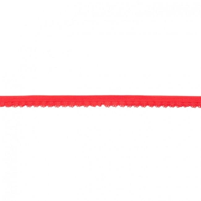Elastische Spitze mit Bogenkante - 11 mm Rot