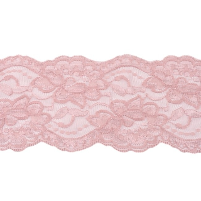 Elastische Spitze - 9,5 cm - Altrosa