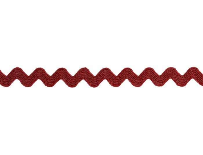 Zackenlitze 5mm Bordeaux