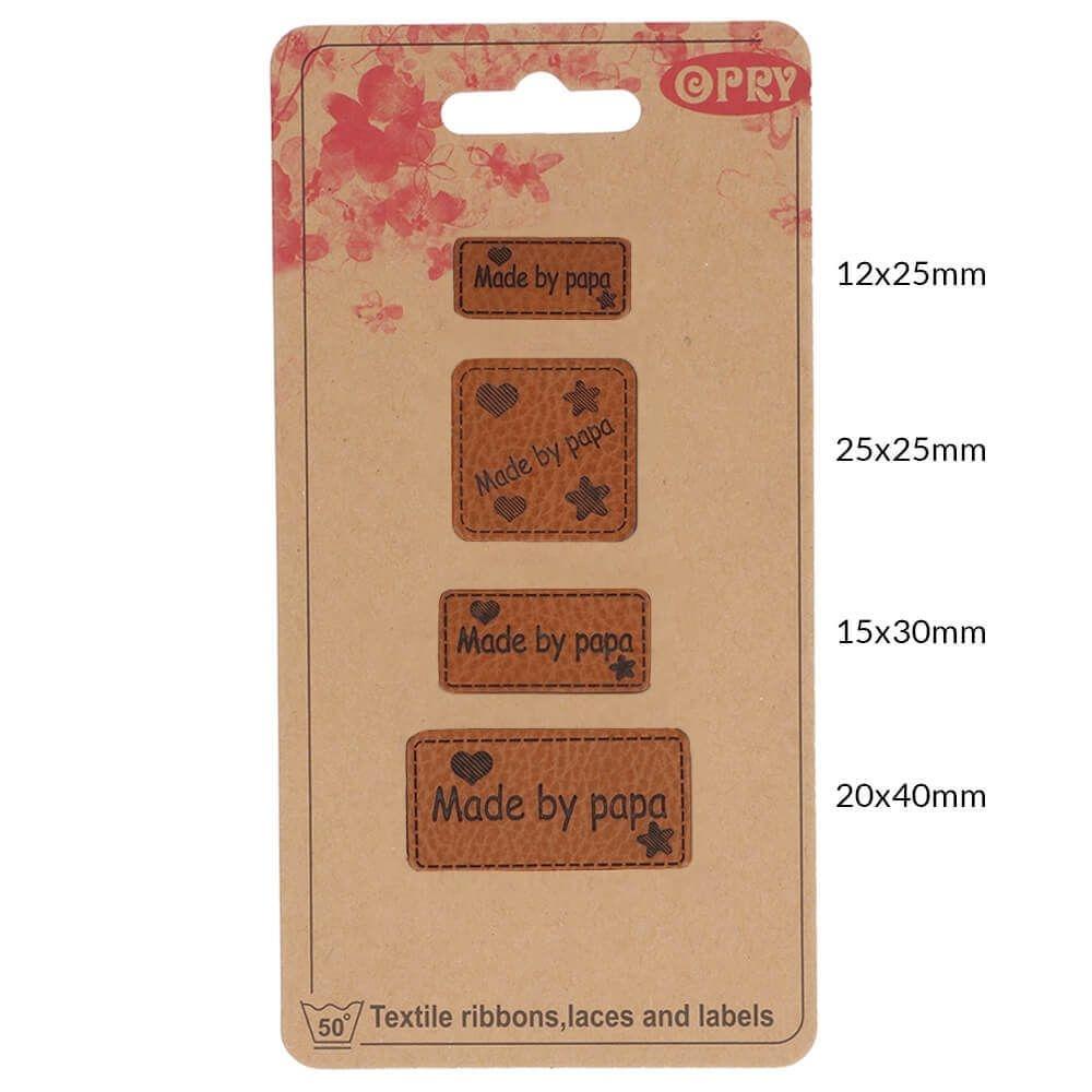 OPRY - Handmade Label - Kunstleder Label - Made by Papa