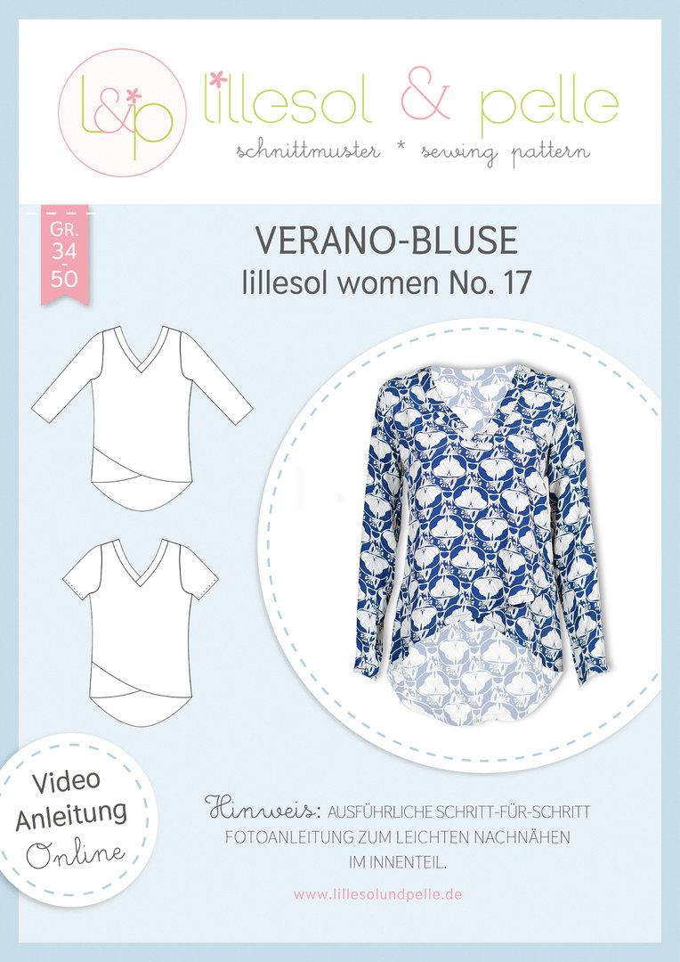 Papierschnittmuster lillesol women No.17 Verano-Bluse