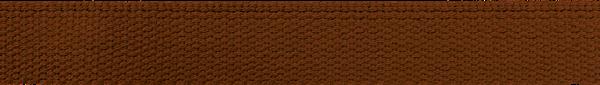 Hochwertiges Gurtband Baumwolle - Baumwollgurtband - 30mm - Braun