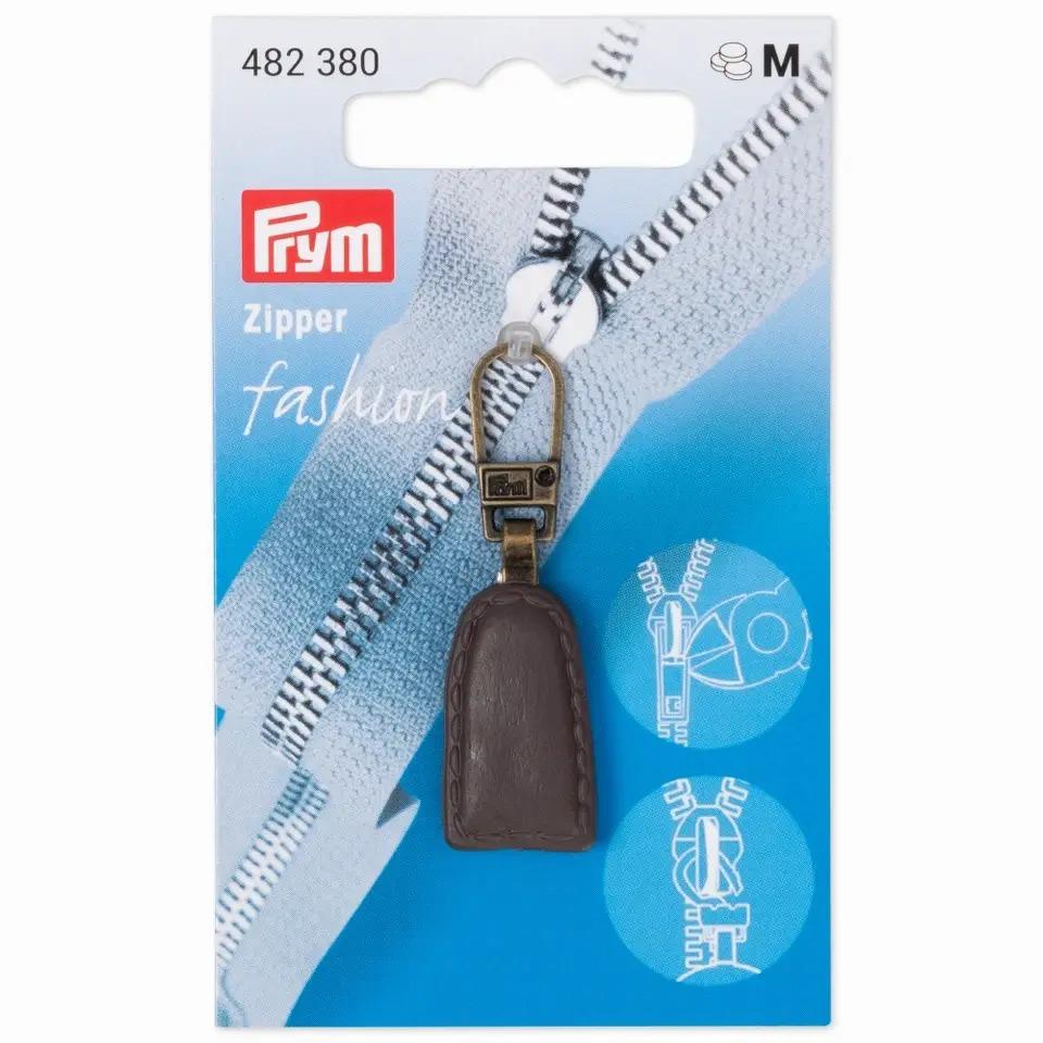 Prym Fashion Zipper - Lederlook - braun - 482380