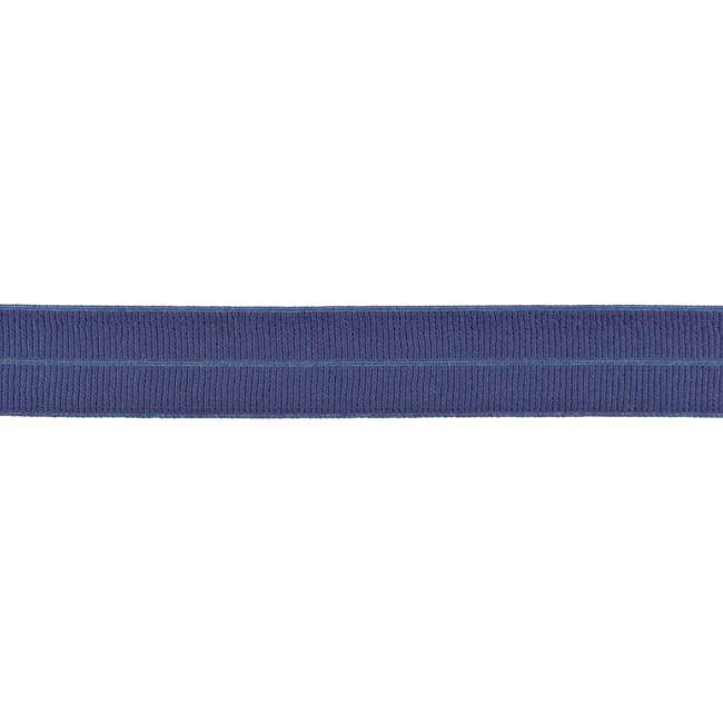 Elastisches Einfassband matt - Jeansblau