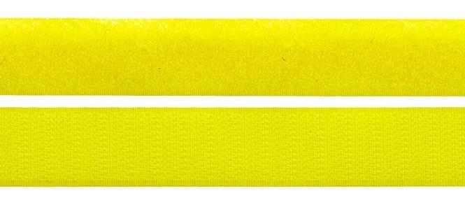 Klettband - Meterware - Doppelband - Hakenband und Flauschband 25 mm Gelb
