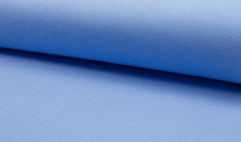 Bündchen Stoff Feinripp Uni - Blau