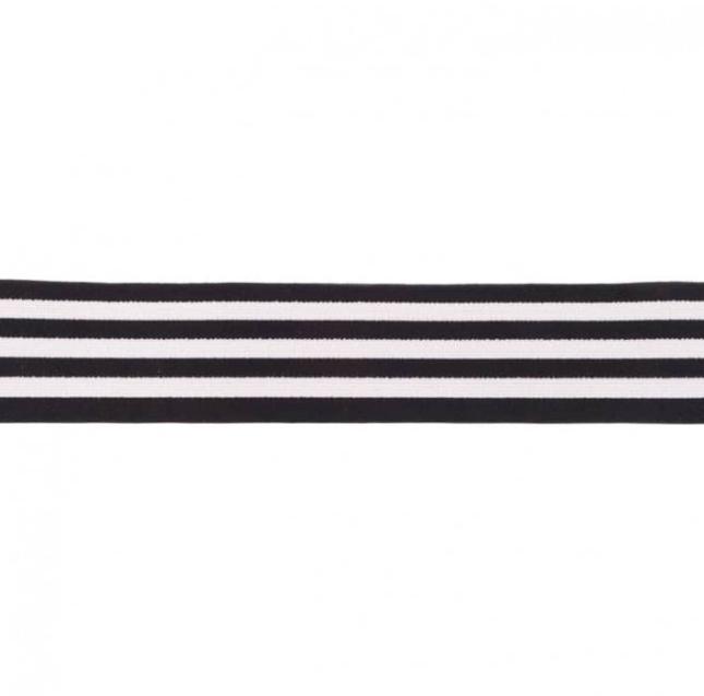 Gummiband - 40mm - Streifen - Schwarz