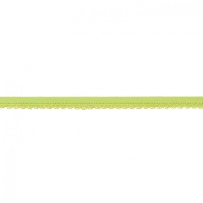 Elastische Spitze mit Bogenkante - 11 mm Lime