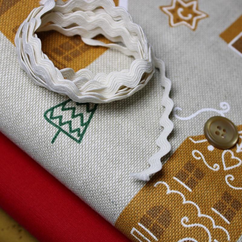 Schnuckidu - Stoffpaket - Taschenpaket - Lebkuchen - Rot