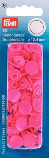 Prym - Druckknöpfe Color Snaps rund 12,4mm - Pink