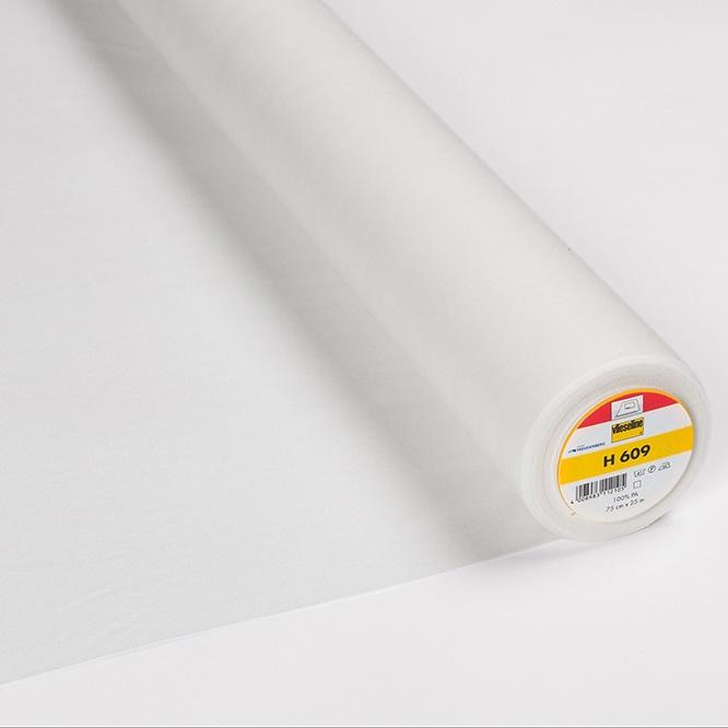 Vlieseline - H609 Fixierbare Einlage 75cm weiß