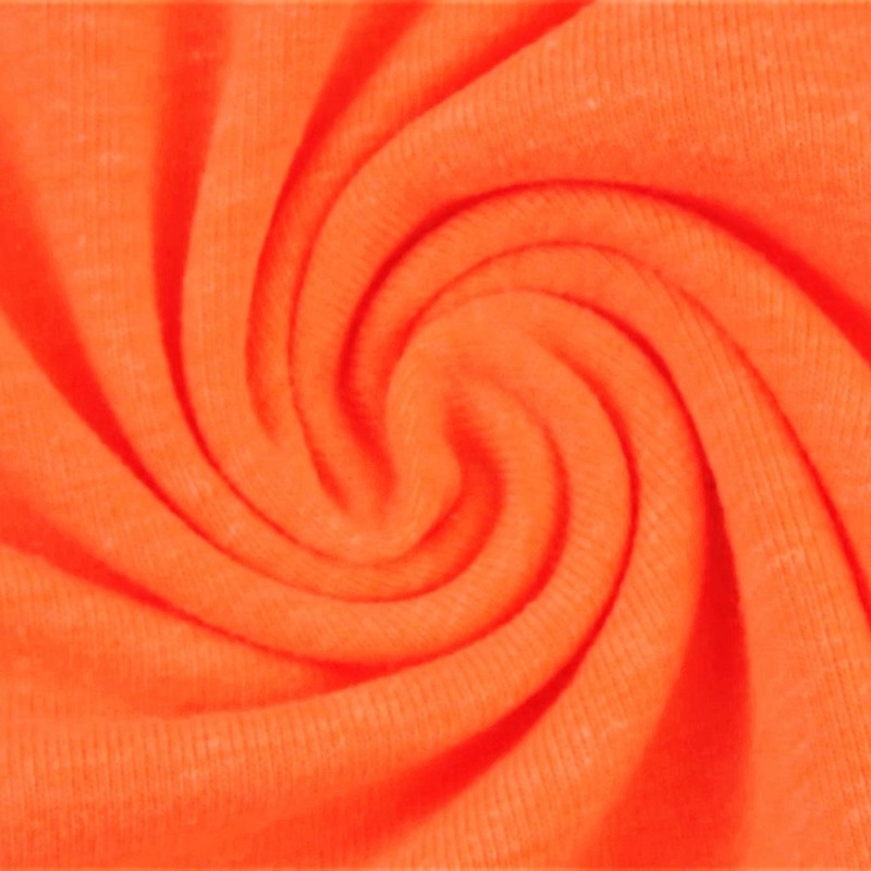 Baumwolljersey - Jersey Stoff Uni - Neon - Orange