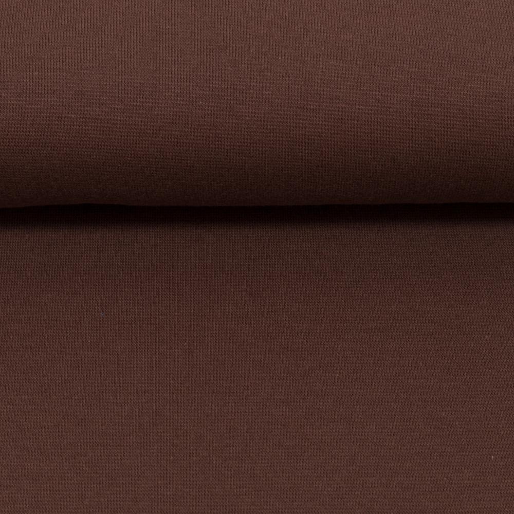 Heike, Schlauchware **Öko-Tex Standard 100**, Bündchen, uni, braun