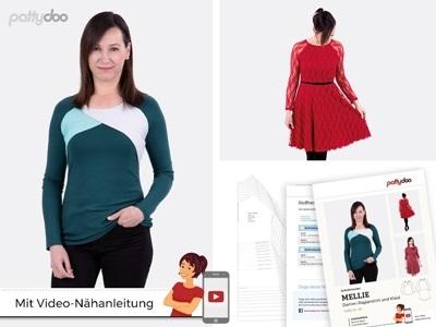 Pattydoo - Schnittmuster Mellie Damen Raglanshirt und Kleid by pattydoo