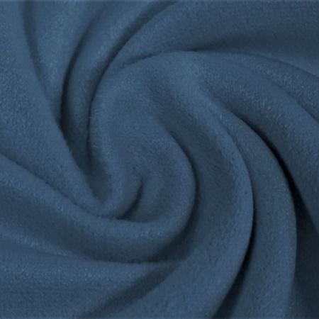 Suede-Stretch Wildlederimitat Uni - Mittelblau