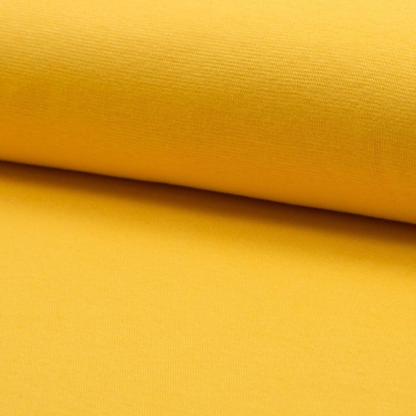 Bündchen Stoff Feinripp Uni - Gelb