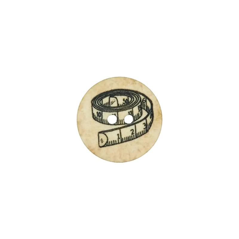 Knopf - Polyesterknopf - 2 Loch - 18mm - Maßband