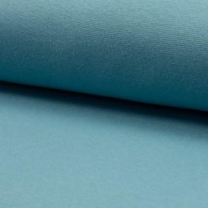 Bündchen Stoff Feinripp Uni - Dusty Aqua